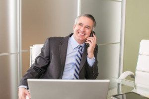 50080671 - mature happy business man on the phone