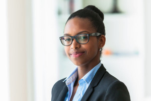 38081249 - portrait of a young african american business woman - black people