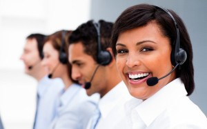 10093700 - attractive young woman working in a call center